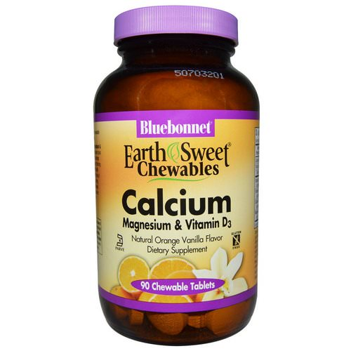 Bluebonnet Nutrition, Calcium, Magnesium & Vitamin D3, Orange Vanilla, 90 Chewable Tablets Review