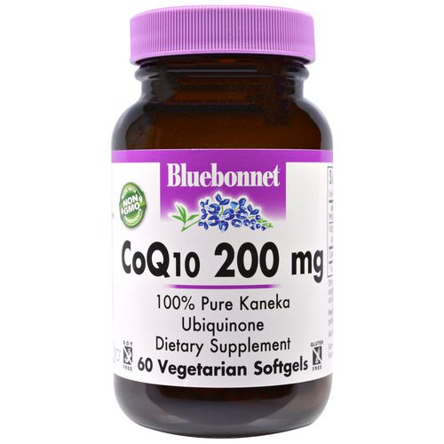 Bluebonnet Nutrition, CoQ10, 200 mg, 60 Veggie Softgels Review