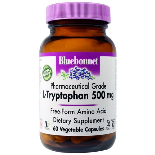 Bluebonnet Nutrition, L-Tryptophan, 500 mg, 60 Veggie Caps Review