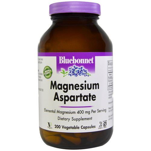 Bluebonnet Nutrition, Magnesium Aspartate, 200 Veggie Caps Review