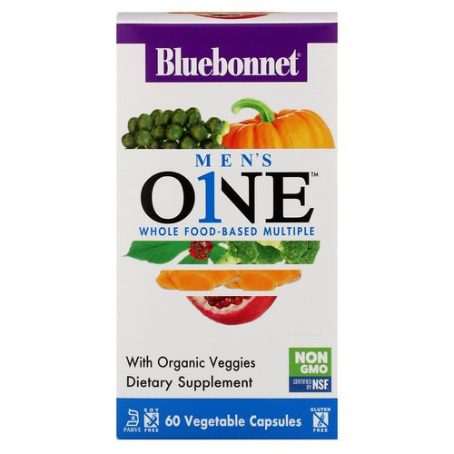 Bluebonnet Nutrition, Men's ONE, Whole Food-Based Multiple, 60 Vegetable Capsules Review
