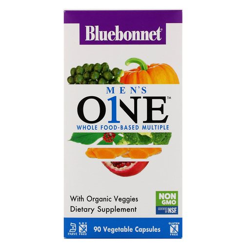Bluebonnet Nutrition, Men's ONE, Whole Food-Based Multiple, 90 Vegetable Capsules Review