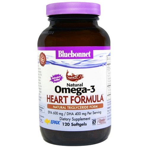 Bluebonnet Nutrition, Natural Omega-3 Heart Formula, 120 Softgels Review