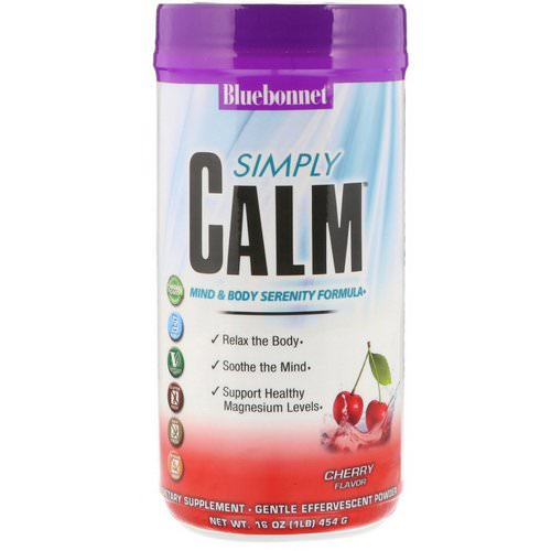 Bluebonnet Nutrition, Simply Calm, Cherry Flavor, 16 oz (454 g) Review