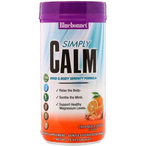 Bluebonnet Nutrition, Simply Calm Powder, Orange Citrus Flavor, 16 oz (454 g) Review