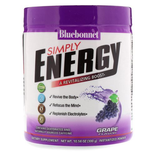 Bluebonnet Nutrition, Simply Energy, Grape Flavor, 10.58 oz (300 g) Review