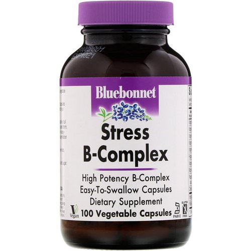 Bluebonnet Nutrition, Stress B-Complex, 100 Vegetable Capsules Review