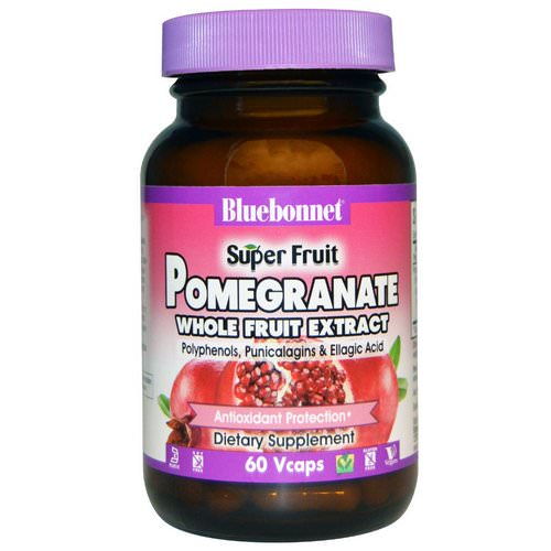Bluebonnet Nutrition, Super Fruit, Pomegranate Whole Fruit Extract, 60 Vcaps Review