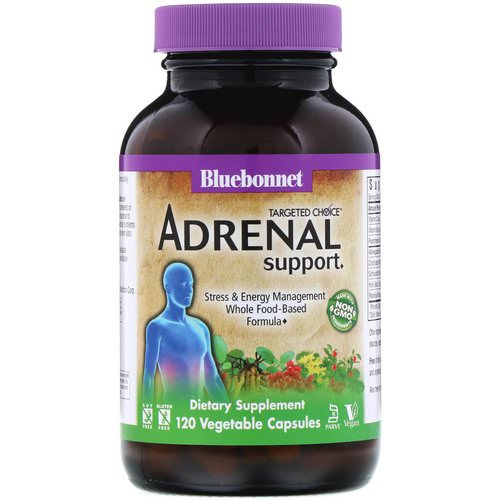 Bluebonnet Nutrition, Targeted Choice, Adrenal Support, 120 Vegetable Capsules Review