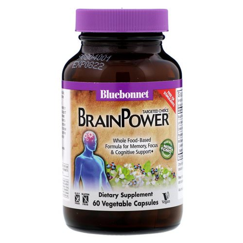 Bluebonnet Nutrition, Targeted Choice, BrainPower, 60 Vegetable Capsules Review