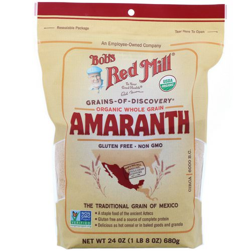 Bob's Red Mill, Organic Amaranth, Whole Grain, 24 oz (680 g) Review