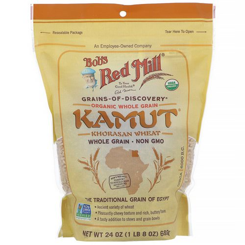 Bob's Red Mill, Organic Kamut, Whole Grain, 24 oz (680 g) Review
