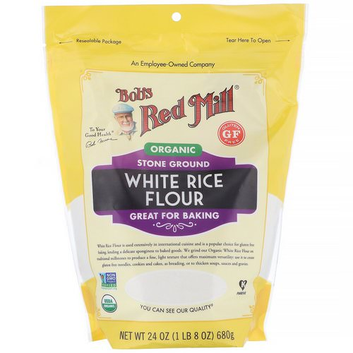 Bob's Red Mill, Organic White Rice Flour, 24 oz (680 g) Review