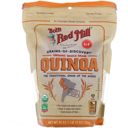 Bob's Red Mill, Organic, Whole Grain Quinoa, Gluten Free, 26 oz (737 g) Review