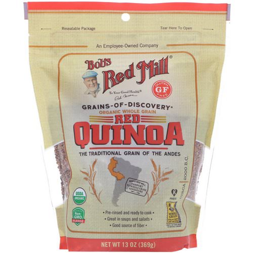 Bob's Red Mill, Organic, Whole Grain Red Quinoa, 13 oz (369 g) Review