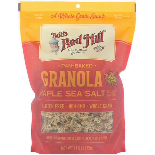 Bob's Red Mill, Pan-Baked Granola, Maple Sea Salt, 11 oz (312 g) Review
