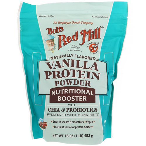 Bob's Red Mill, Vanilla Protein Powder, Nutritional Booster with Chia & Probiotics, 16 oz (453 g) Review