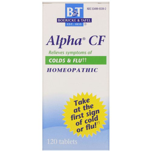 Boericke & Tafel, Alpha CF, 120 Tablets Review