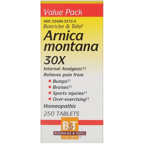Boericke & Tafel, Arnica Montana 30X, 250 Tablets Review