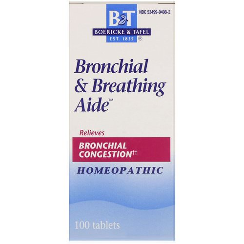 Boericke & Tafel, Bronchial & Breathing Aide, 100 Tablets Review