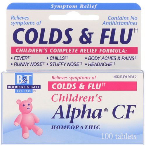 Boericke & Tafel, Children's Alpha CF, 100 Tablets Review