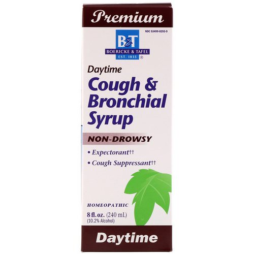 Boericke & Tafel, Cough & Bronchial Syrup, Daytime, 8 fl oz (240 ml) Review