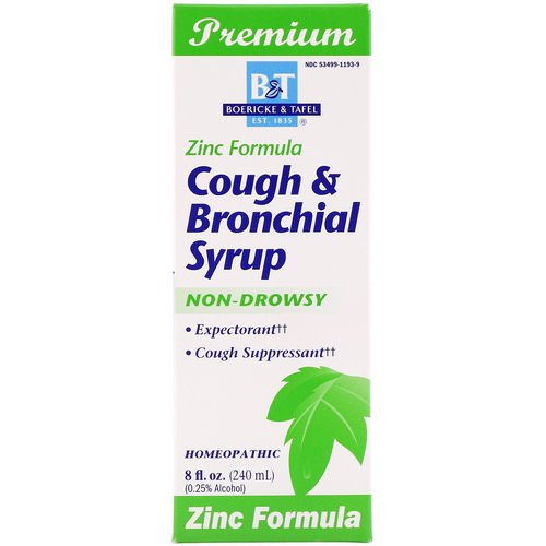 Boericke & Tafel, Cough & Bronchial Syrup, with Zinc, 8 fl oz Review