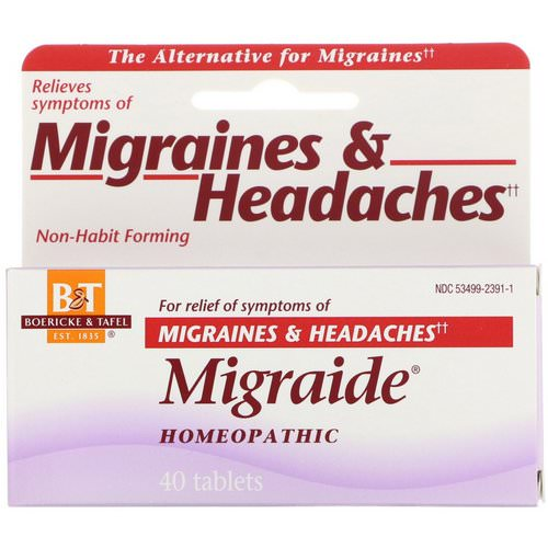 Boericke & Tafel, Migraide, 40 Tablets Review