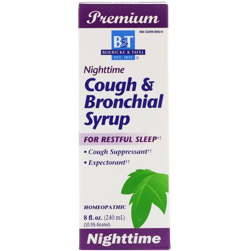 Boericke & Tafel, Nighttime Cough & Bronchial Syrup, 8 fl oz (240 ml) Review