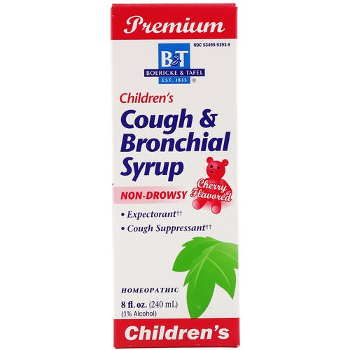 Boericke & Tafel, Premium Children's Cough & Bronchial Syrup, Cherry Flavor, 8 fl oz (240 mg) Review