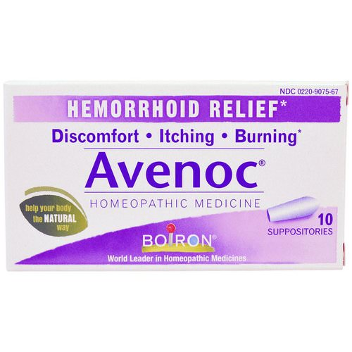 Boiron, Avenoc, Hemorrhoid Relief, 10 Suppositories Review