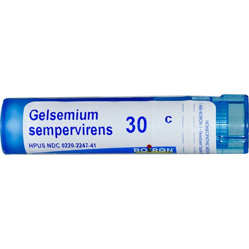 Boiron, Single Remedies, Gelsemium Sempervirens, 30C, Approx 80 Pellets Review