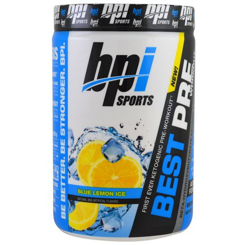 BPI Sports, Best Pre Workout, Beta-Hydroxybutyrate Ketone & Energy Formula, Blue Lemon Ice, 11.11 oz (315 g) Review