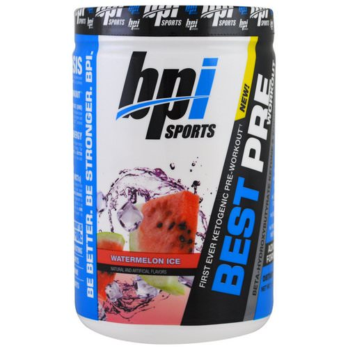 BPI Sports, Best Pre Workout, Beta-Hydroxybutyrate Ketone & Energy Formula, Watermelon Ice, 11.11 oz (315 g) Review