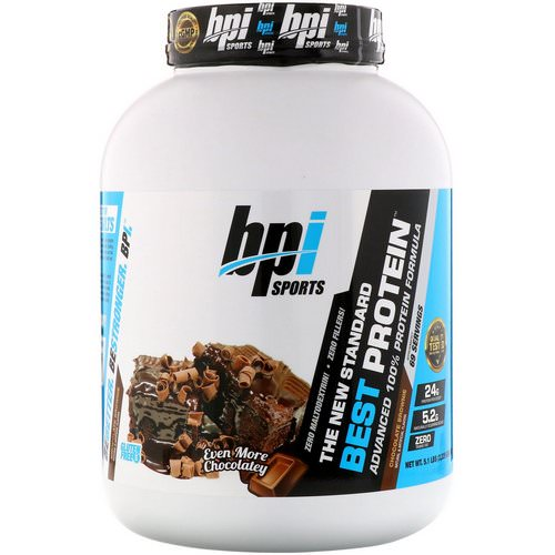 BPI Sports, Best Protein, Advanced 100% Protein Formula, Chocolate Brownie, 5.1 lbs (2,329 g) Review