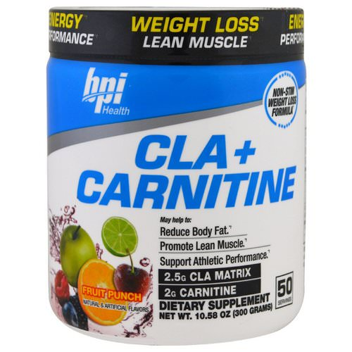 BPI Sports, CLA + Carnitine, Fruit Punch, 10.58 oz (300 g) Review