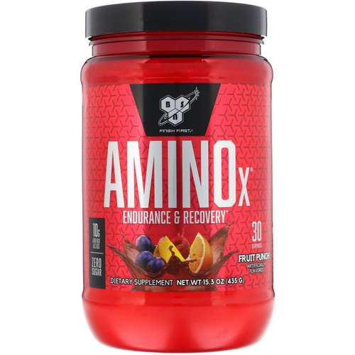 BSN, Amino-X, Endurance & Recovery, Fruit Punch, 15.3 oz (435 g) Review