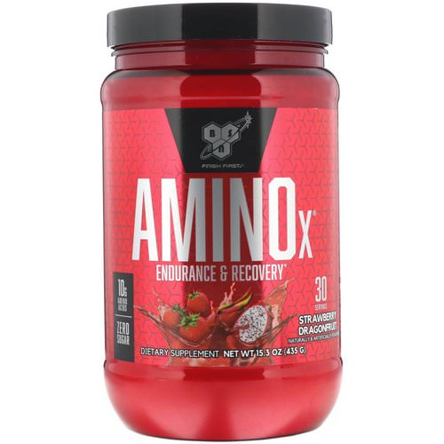BSN, Amino-X, Endurance & Recovery, Strawberry Dragonfruit, 15.3 oz (435 g) Review