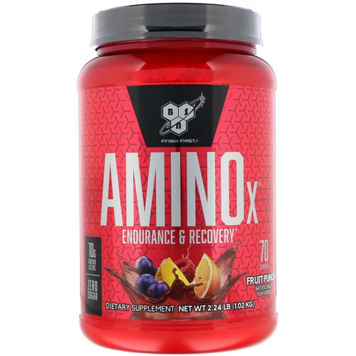 BSN, Amino-X, Endurance & Recovery, Fruit Punch, 2.23 lb (1.01 kg) Review
