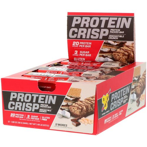 BSN, Protein Crisp, S'mores Flavor, 12 Bars, 1.98 oz (56 g) Review