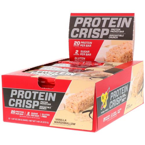 BSN, Protein Crisp, Vanilla Marshmallow, 12 Bars, 1.97 oz (56 g) Each Review