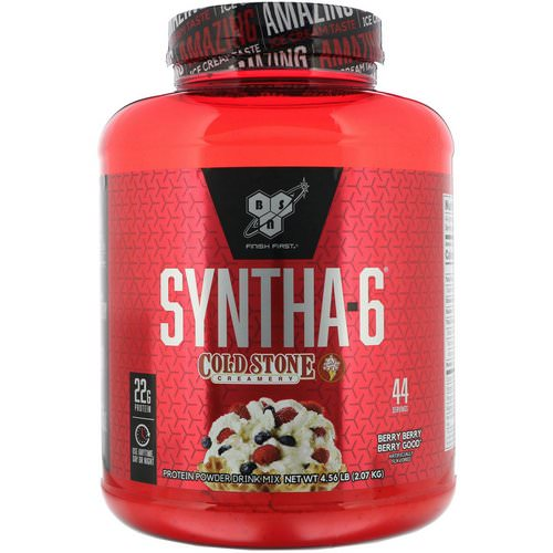 BSN, Syntha-6, Cold Stone Creamery, Berry Berry Berry Good, 4.56 lb (2.07 kg) Review