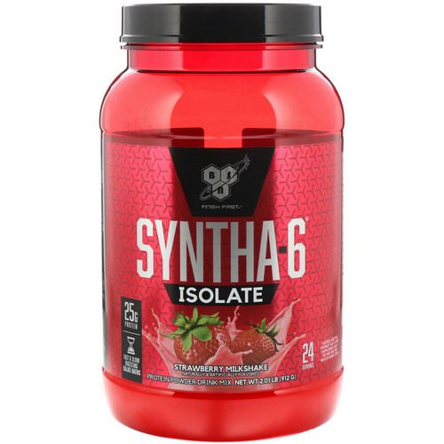 BSN, Syntha-6 Isolate, Protein Powder Drink Mix, Strawberry Milkshake, 2.01 lbs (912 g) Review
