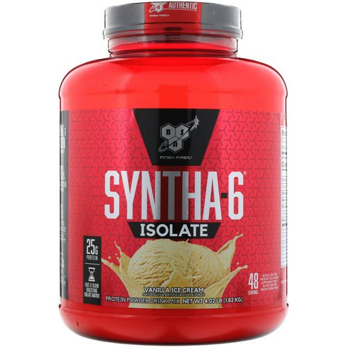 BSN, Syntha-6 Isolate, Protein Powder Drink Mix, Vanilla Ice Cream, 4.02 lbs (1.82 kg) Review