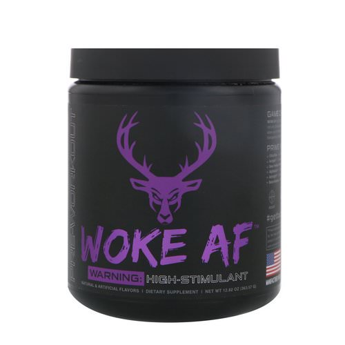 Bucked Up, Woke AF, Pre-Workout, Grape Gainz, 12.82 oz (363.57 g) Review