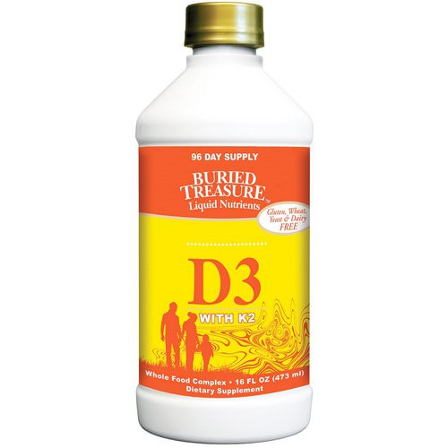 Buried Treasure, Liquid Nutrients, D3 with K2, 16 fl oz (473 ml) Review