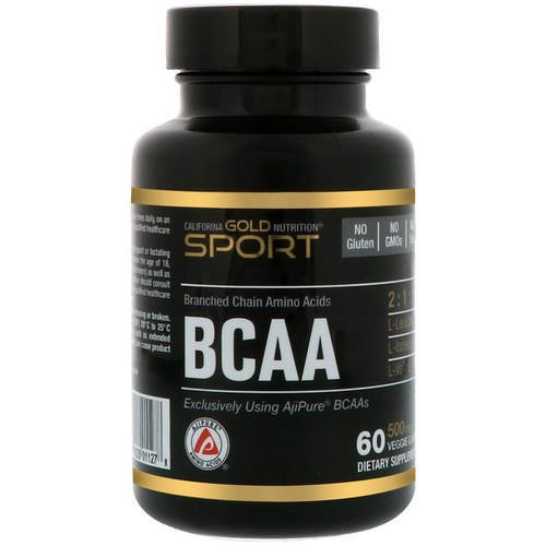 California Gold Nutrition, BCAA, AjiPure® Branched Chain Amino Acid, 500 mg, 60 Veggie Caps Review