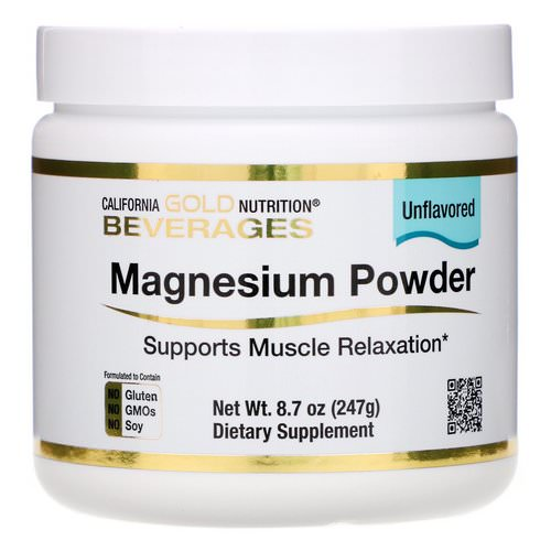 California Gold Nutrition, Magnesium Powder Beverage, Unflavored, 8.7 oz (247 g) Review