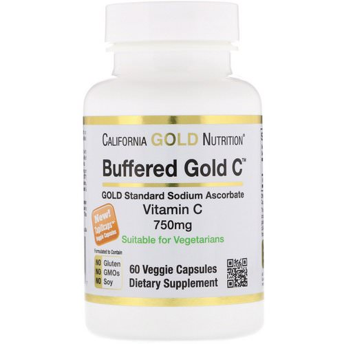 California Gold Nutrition, Buffered Vitamin C Capsules, 750 mg, 60 Veggie Capsules Review