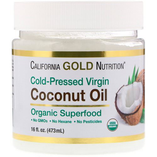 California Gold Nutrition, Cold-Pressed Organic Virgin Coconut Oil, 16 fl oz (473 ml) Review